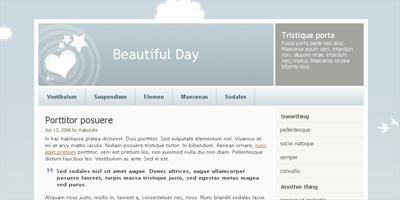 WordPress Theme: Beautiful Day 2.0