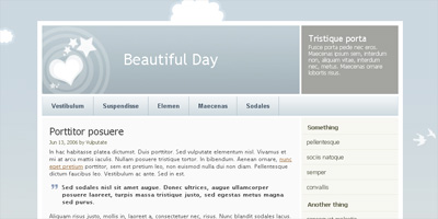 Free Website Template: Beautiful Day - Arcsin Web Templates