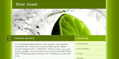 Free Website Template: Bitter Sweet - Arcsin Web Templates