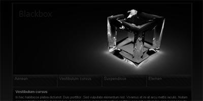 Black Website Template. website template black background slide ...
