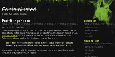 Joomla Template: Contaminated