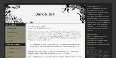 Website Template: Dark Ritual