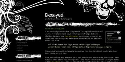 Free WordPress Theme: Decayed - Arcsin Web Templates