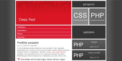 Website Template: Deep Red