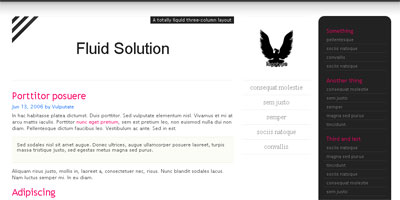Blogger Template: Fluid Solution