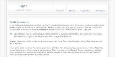 Website Template: Light