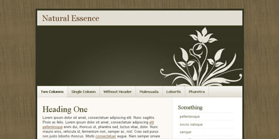 Blogger Template: Natural Essence