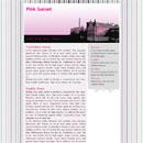 Website Template: Pink Sunset