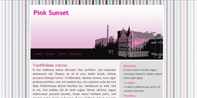 Joomla Template: Pink Sunset