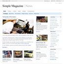Website Template: Simple Magazine