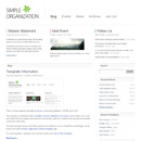 Website Template: Simple Organization