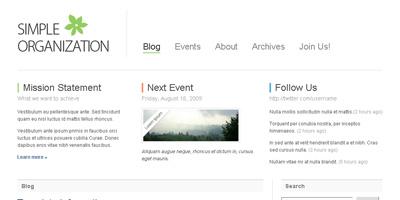 Free Website Template: Simple Organization - Arcsin Web Templates