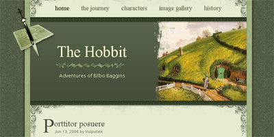 Blogger Template: The Hobbit