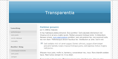 WordPress Theme: Transparentia