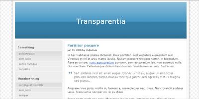 Blogger Template: Transparentia